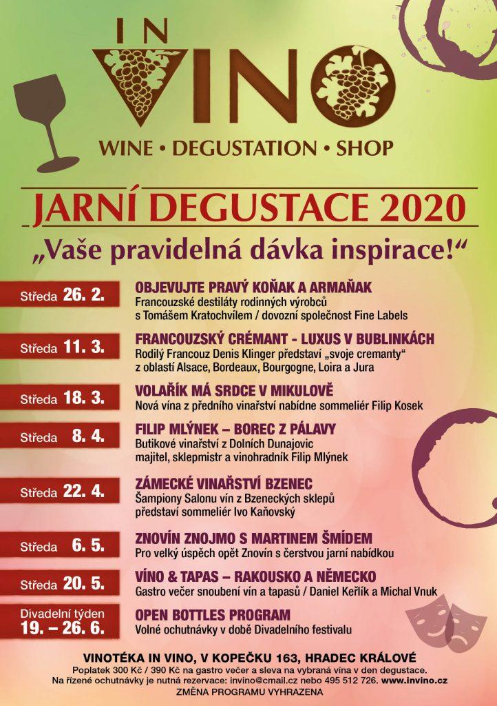 Degustace - jaro 2020